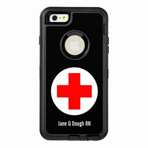 iPhone 6 Case Template Beautiful Nurse Name Template Otterbox iPhone 6 6s Plus Case