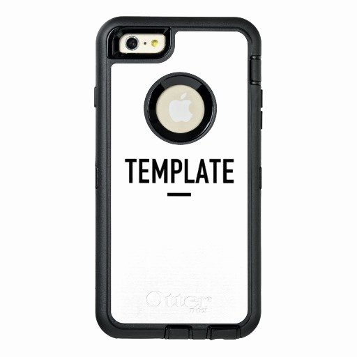 iPhone 6 Case Template Lovely Template Otterbox iPhone 6 6s Plus Case