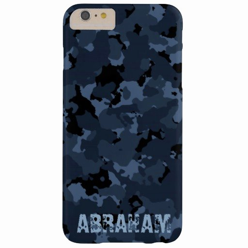 iPhone 6 Case Template Luxury Night Camo Name Template Barely there iPhone 6 Plus Case