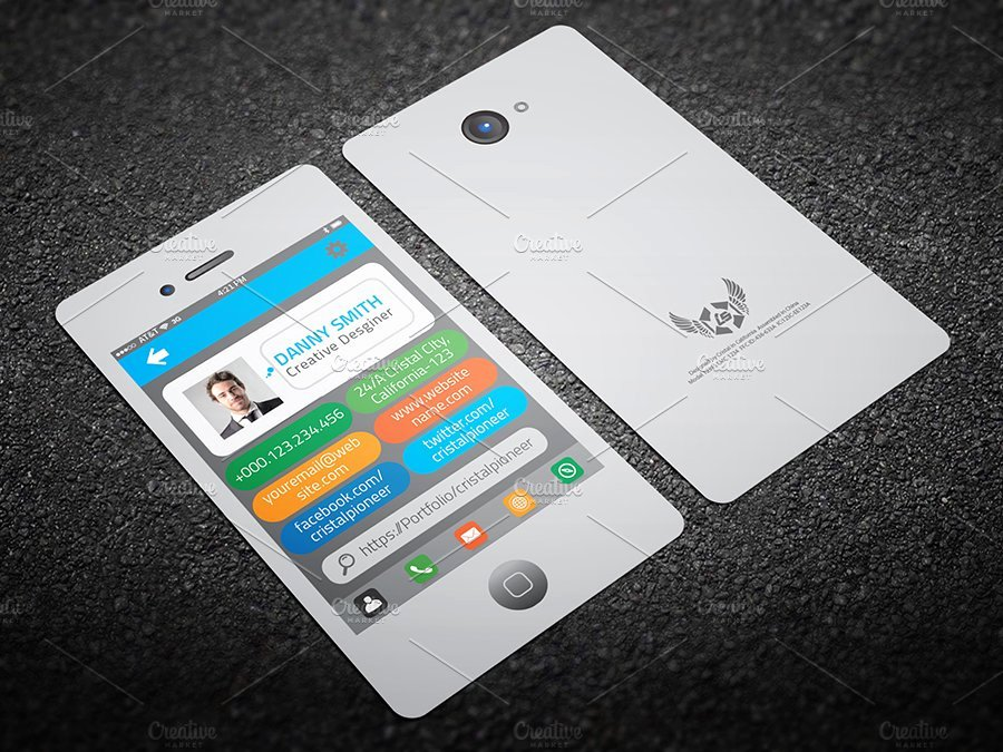 iPhone Business Card Template Fresh iPhone Style Business Card Business Card Templates