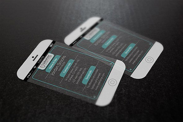 iPhone Business Card Template New iPhone 6 Business Card Template Free Download