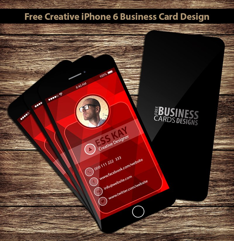 iPhone Business Card Template Unique 75 Free Business Cards A Graphic World