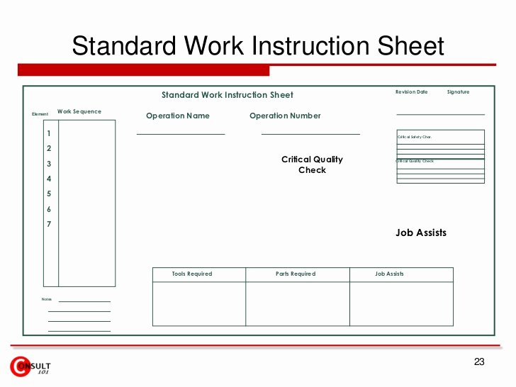 Iso Work Instruction Template Luxury Free iso Work Instruction Template