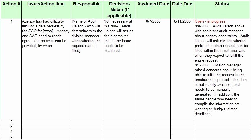 Issue Log Template Excel Awesome 13 Free Sample issue Log Templates Printable Samples