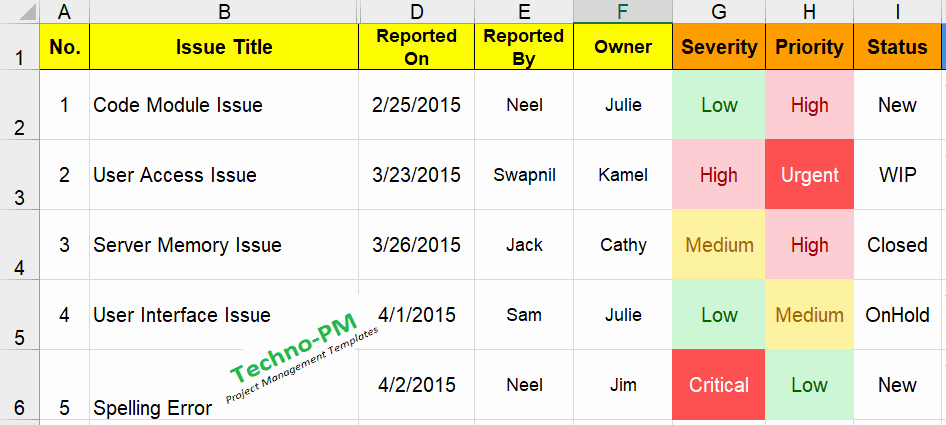 Issue Log Template Excel New What is An issue Log Download Excel Log Free Project