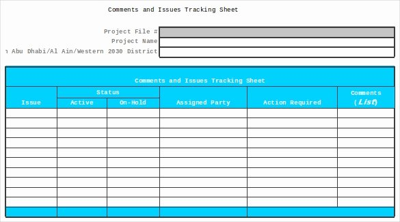Issue Tracking Template Excel Elegant 9 issue Tracking Templates Free Sample Example format