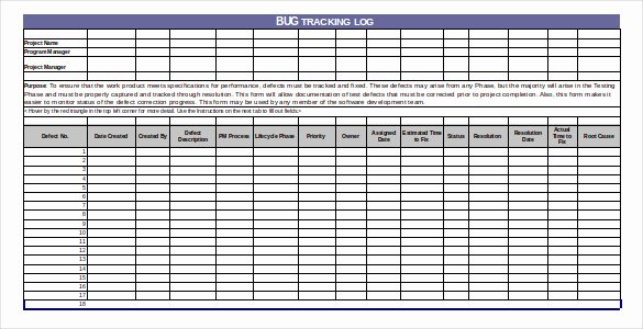 Issue Tracking Template Excel Elegant Bug Tracking Template – 4 Free Word Excel Pdf Documents