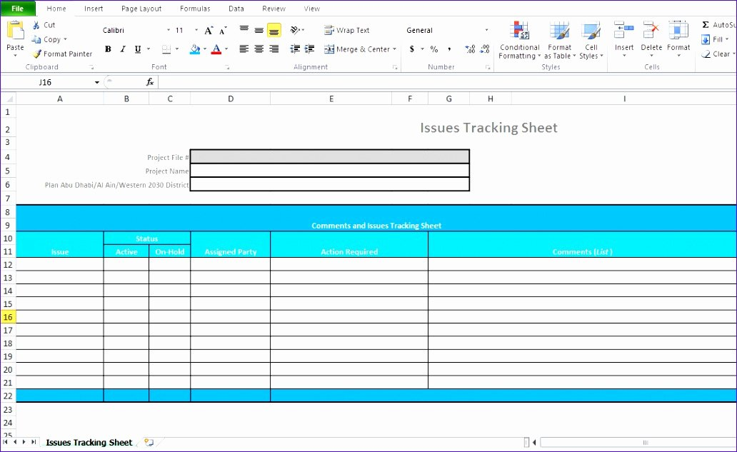 Issue Tracking Template Excel Luxury 11 Excel Project Management Templates Free Download