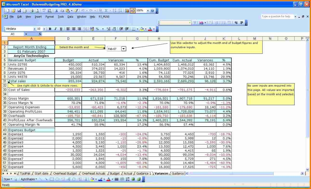 It Budget Template Excel Awesome Excel Business Bud Template