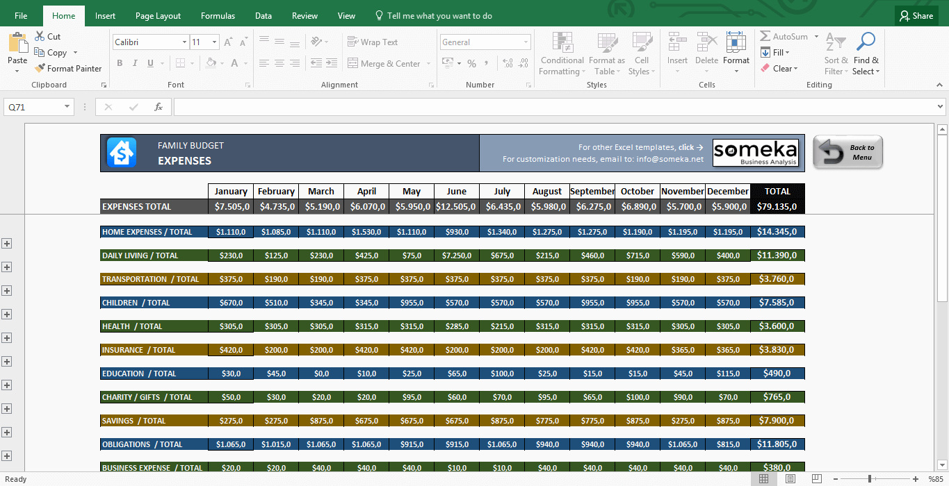 It Budget Template Excel Best Of Family Bud Excel Bud Template for Household