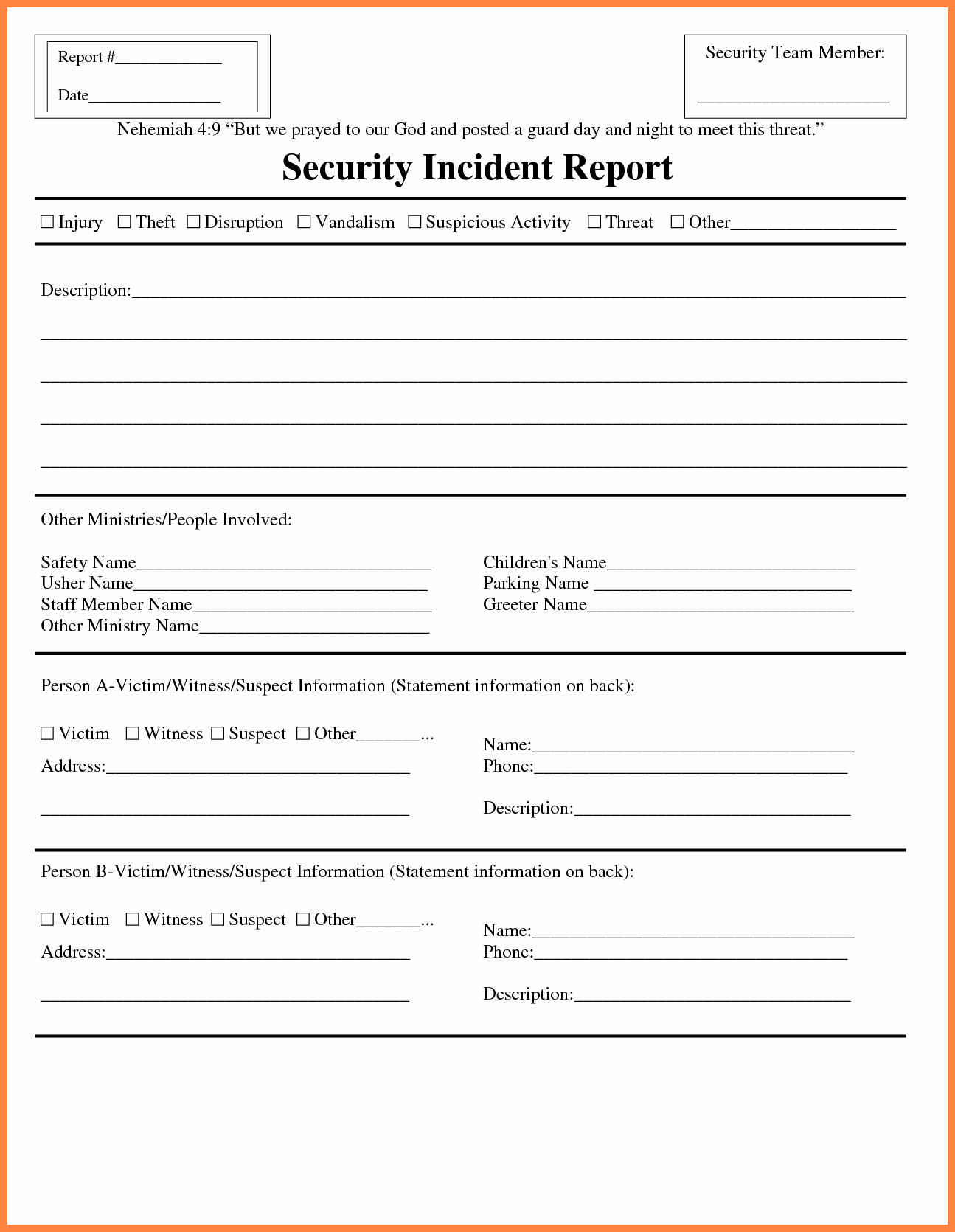 It Incident Report Template Beautiful 12 Information Technology Incident Report Template