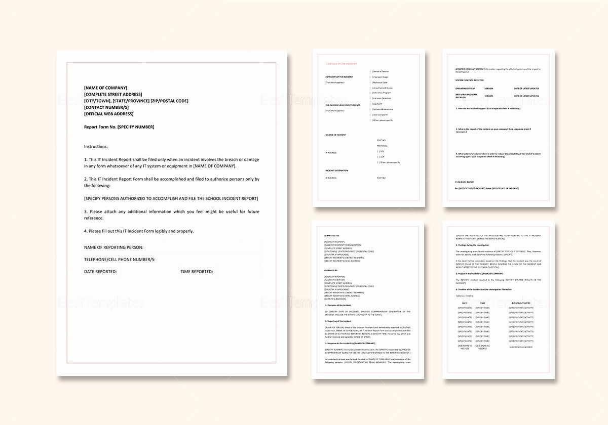 It Incident Report Template Elegant It Incident Report Template In Word Google Docs Apple Pages