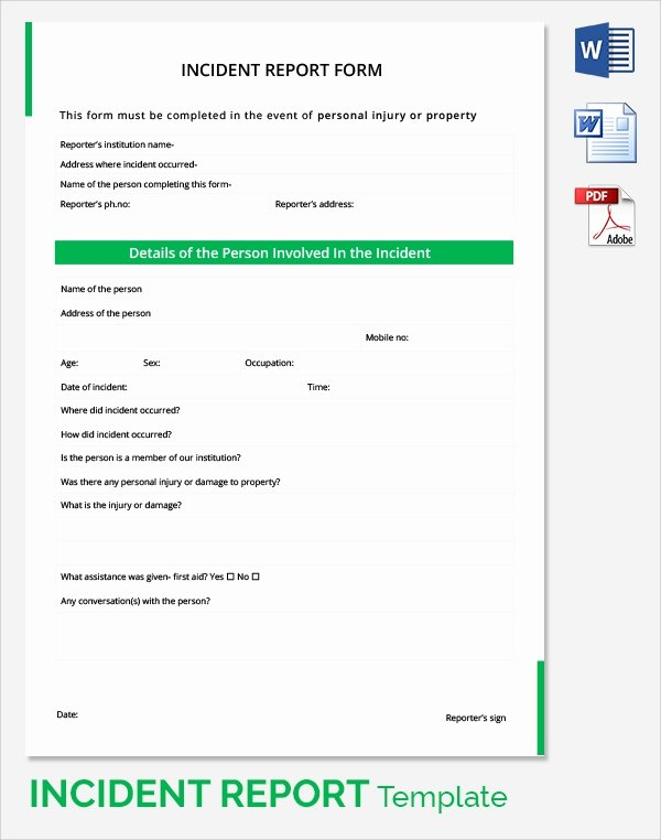 It Incident Report Template Fresh 17 Sample Incident Reports