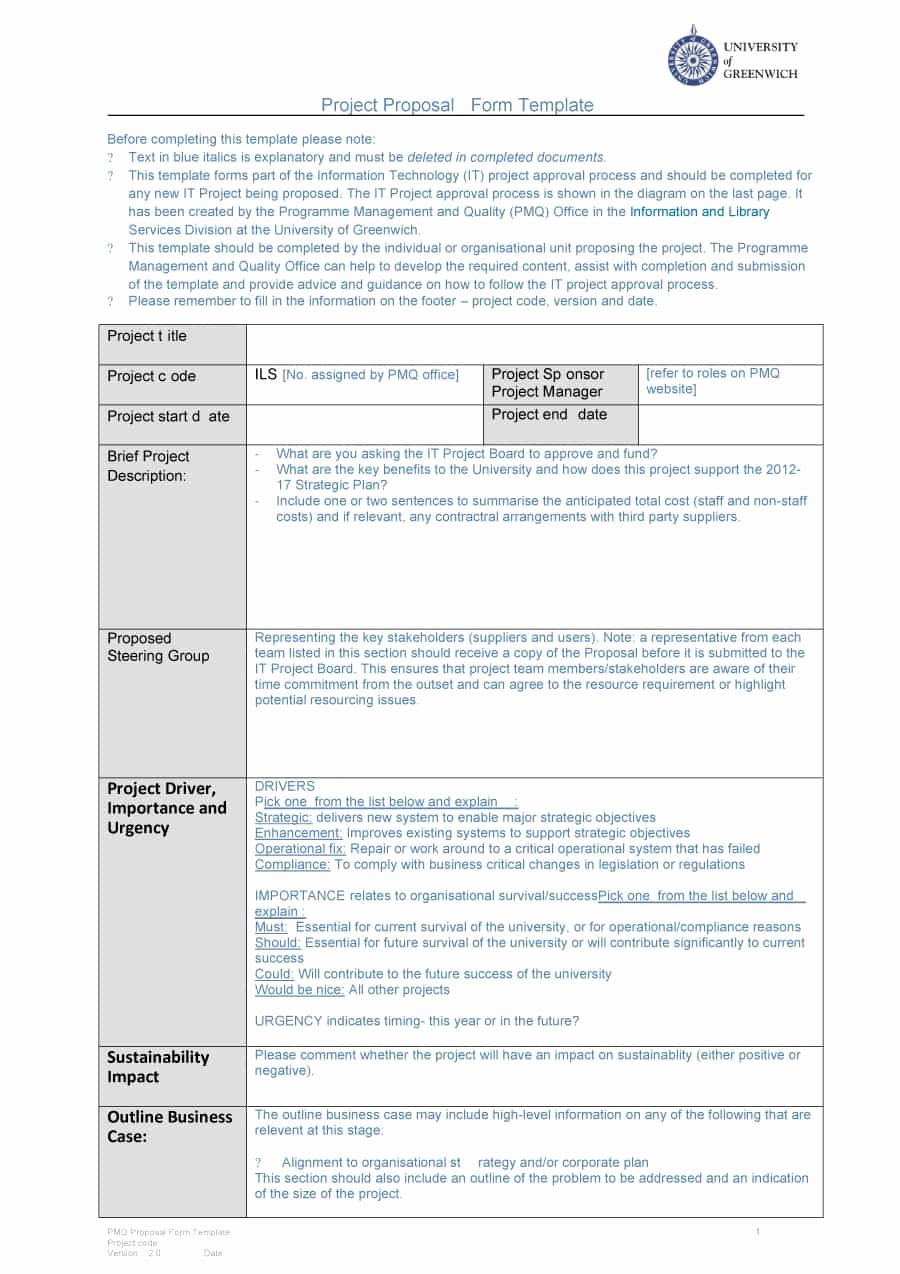 It Project Proposal Template Awesome 43 Professional Project Proposal Templates Template Lab