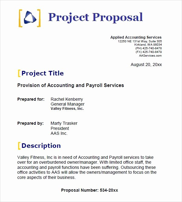 It Project Proposal Template Best Of 25 Free Business Proposal Templates