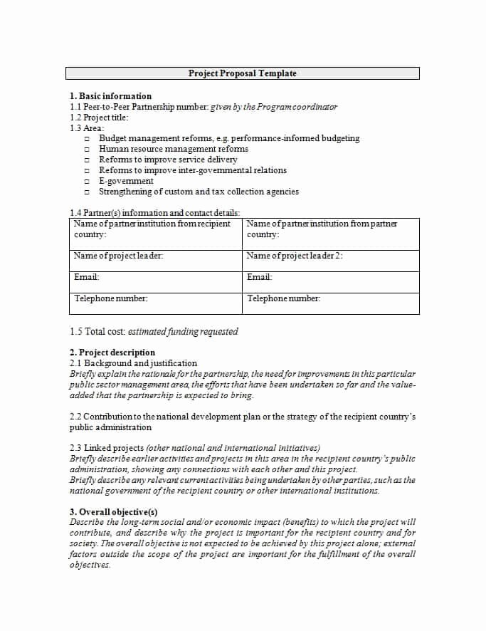 It Project Proposal Template Inspirational 43 Professional Project Proposal Templates Template Lab