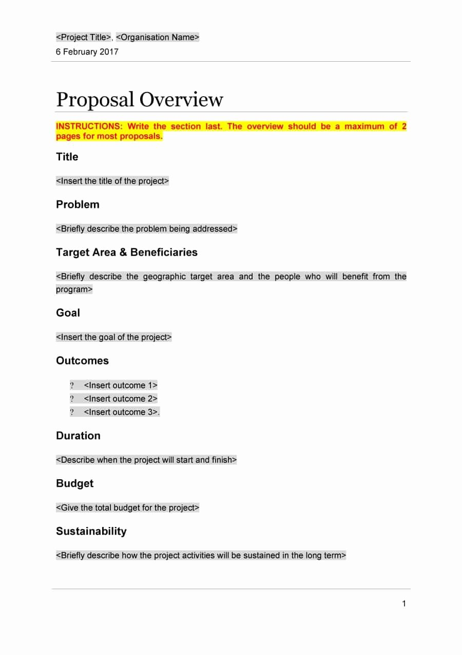 It Project Proposal Template New 43 Professional Project Proposal Templates Template Lab