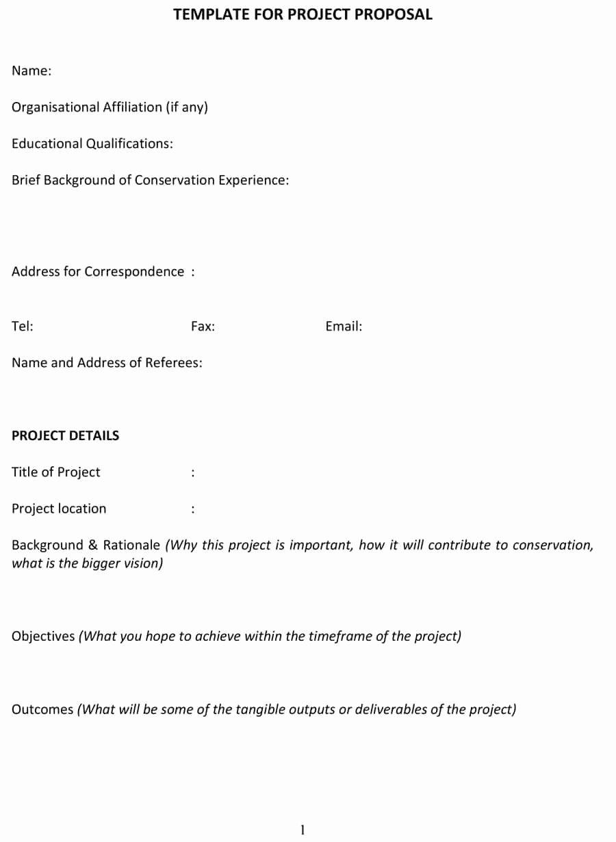 It Project Proposal Template Unique 43 Professional Project Proposal Templates Template Lab