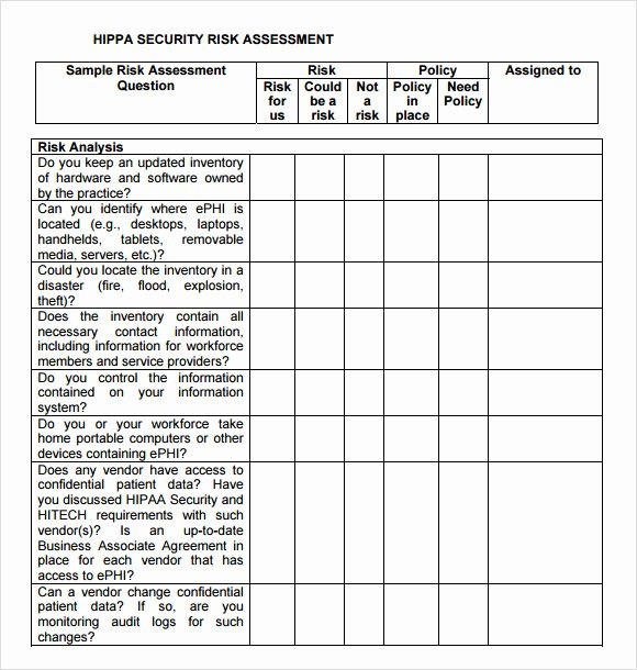 It Risk assessment Template Awesome Security Risk assessment – 7 Free Samples Examples format