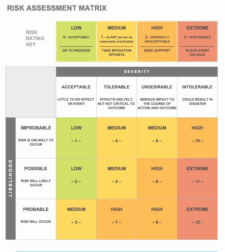 It Risk assessment Template Beautiful Free Risk assessment Matrix Templates