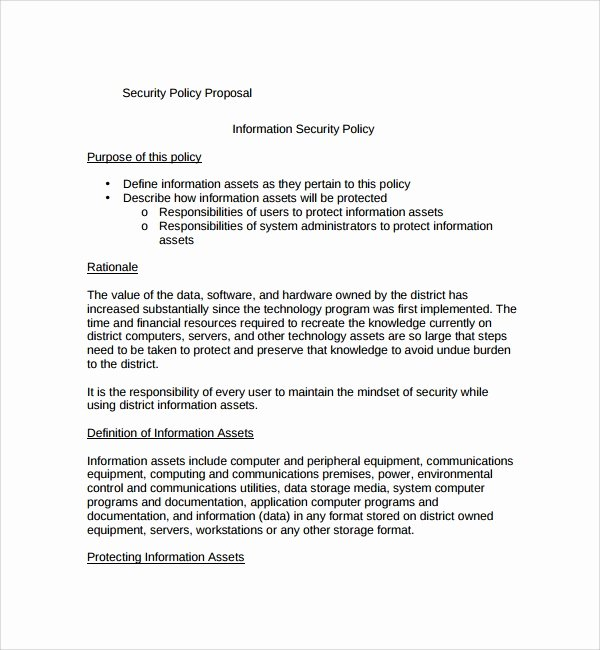 It Security Policy Template Lovely 10 Policy Proposal Templates