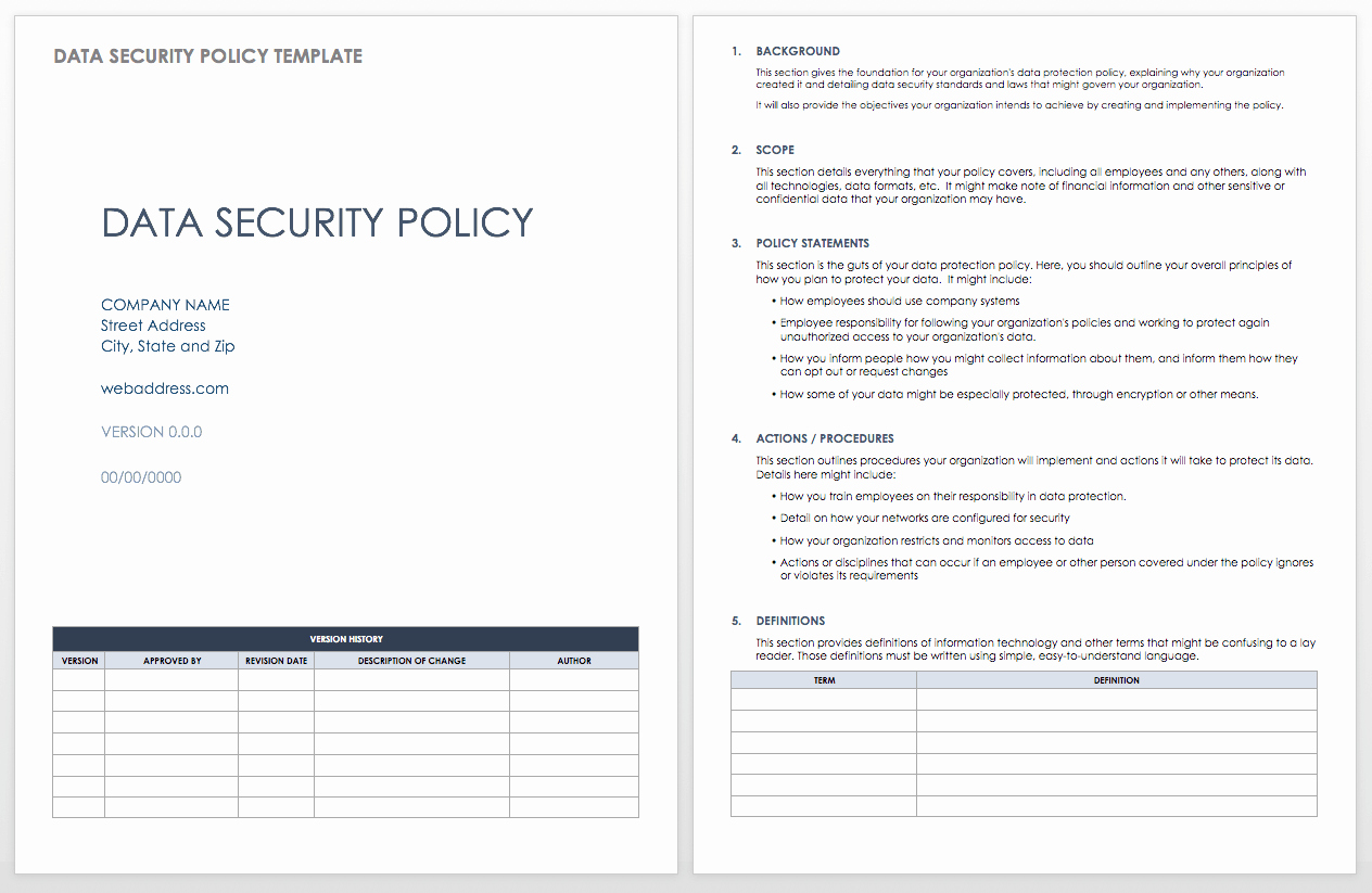 It Security Policy Template New Data Security How to Keep Your Data Safe