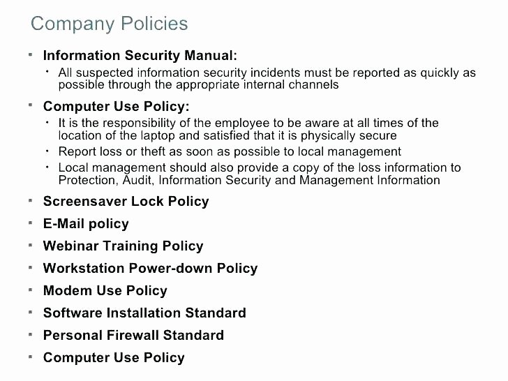 It Security Policy Template New Server Security Policy Template 5 Checklist It Security