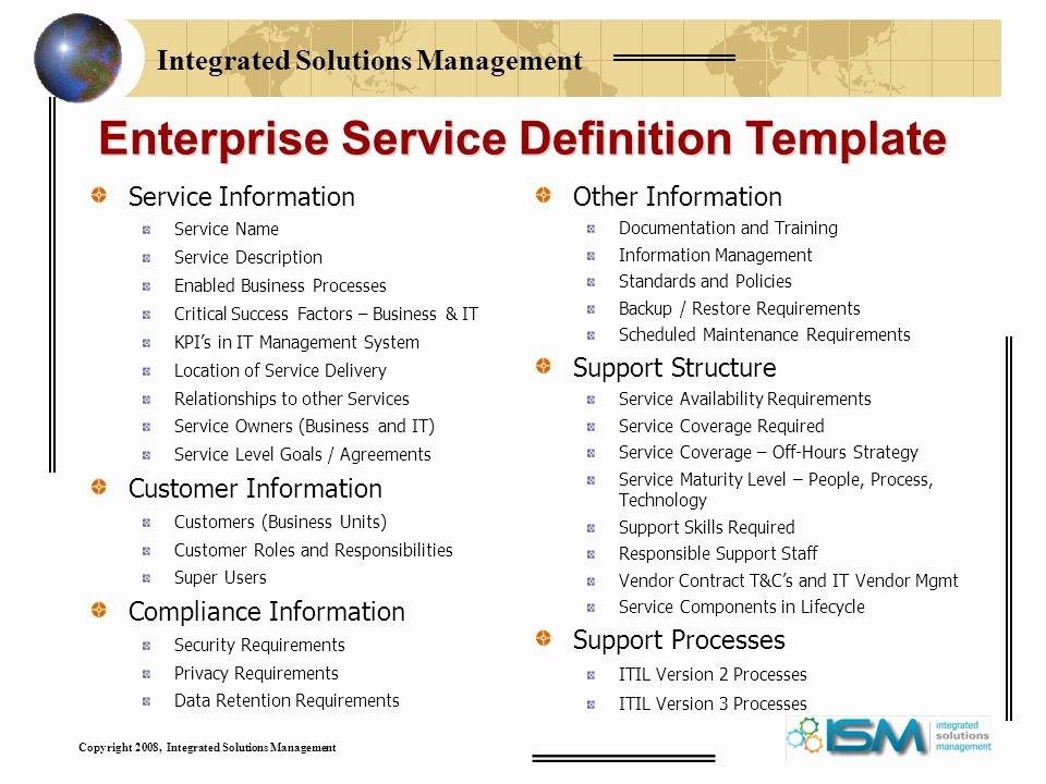 It Service Catalog Template Inspirational Defining Services for Your It Service Catalog Ppt