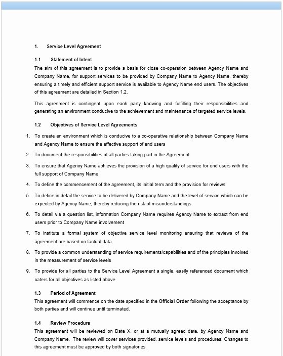professional it service agreement templates