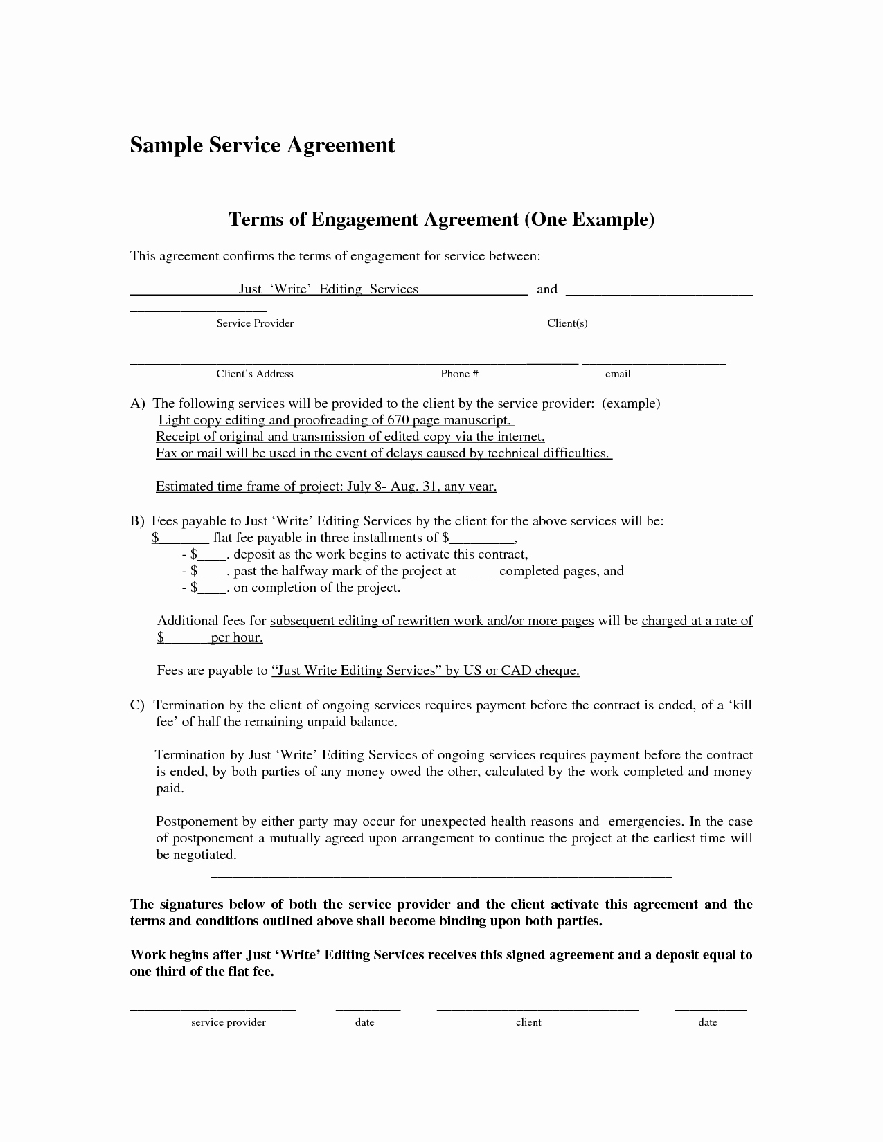 It Service Contract Template Best Of It Service Agreement Template Portablegasgrillweber