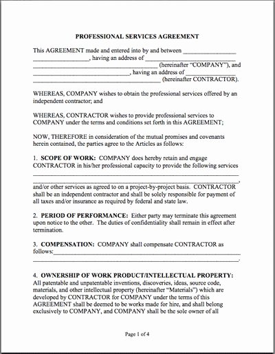 It Service Contract Template Lovely 7 Best Contr Images On Pinterest