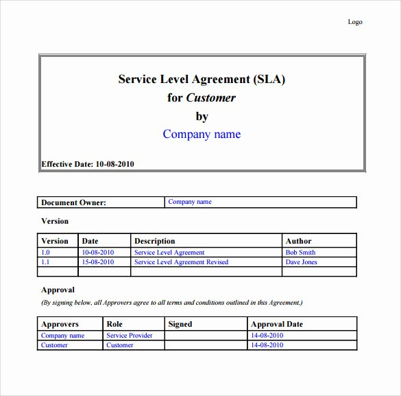 It Service Contract Template New 10 It Support Contract Templates to Download for Free