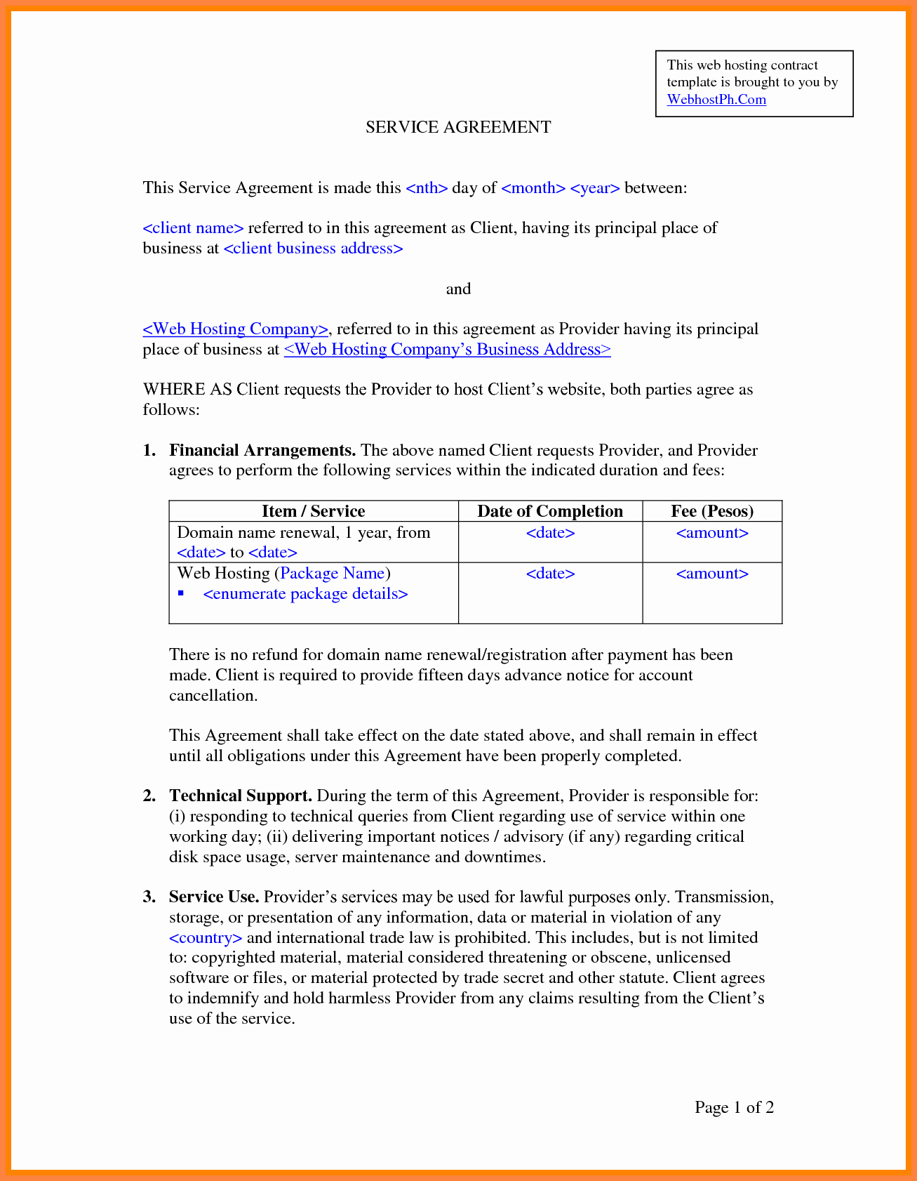 It Service Contract Template New 8 It Services Agreement Contract Template