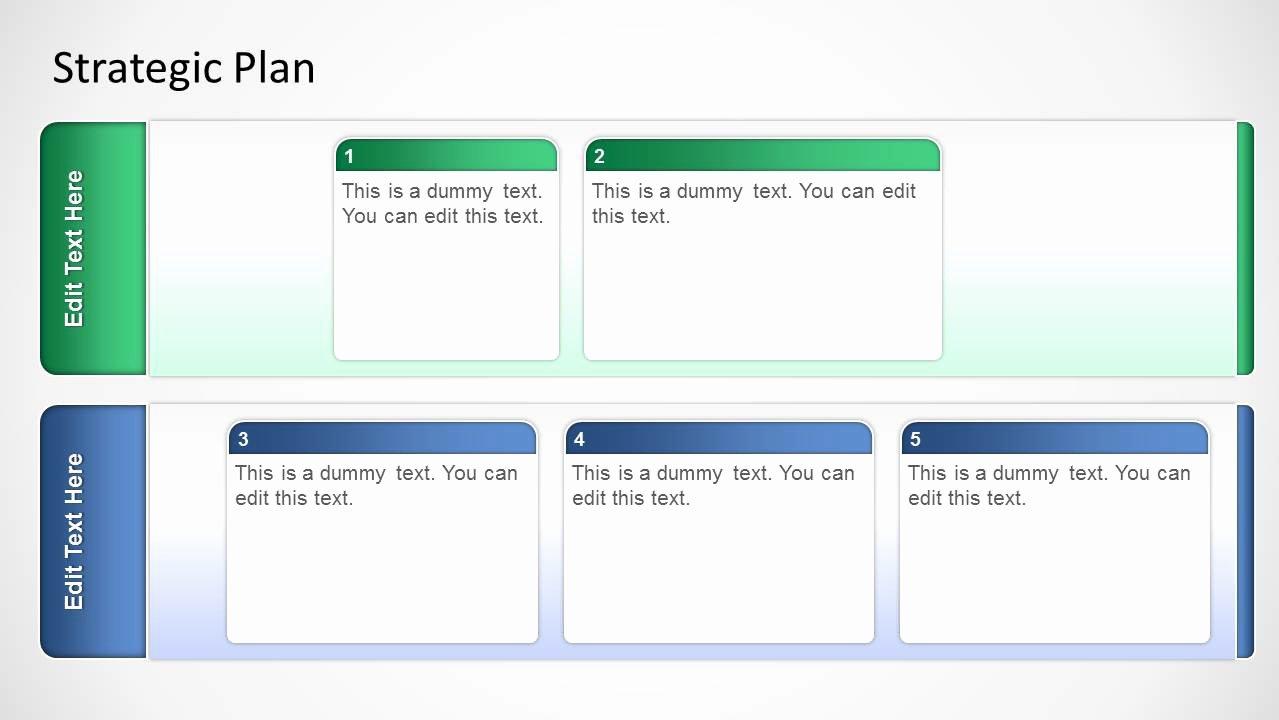 It Strategic Plan Template New Basic Strategic Plan Template for Powerpoint Slidemodel