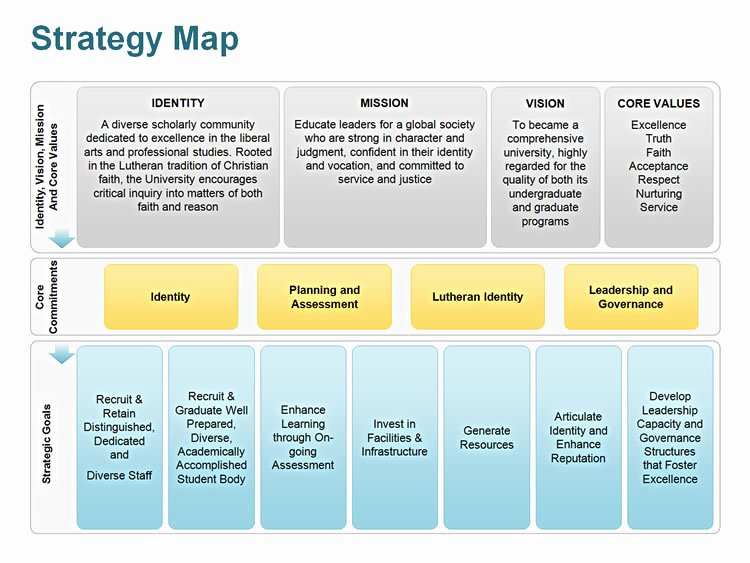 It Strategic Plan Template New Editable Powerpoint Strategy Map Template