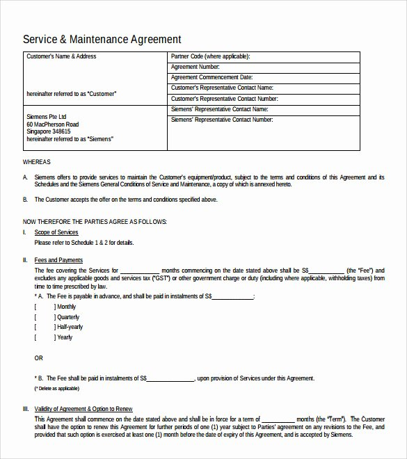 It Support Contract Template Lovely 10 It Support Contract Templates to Download for Free