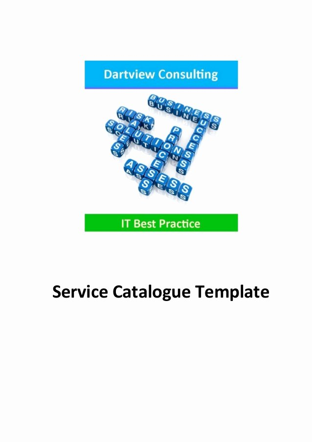 Itil Service Catalog Template Fresh Itil Service Catalogue Template