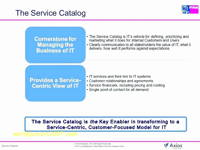 Itil Service Catalog Template Lovely Service Catalog Template Itil V3 – Vitaminacfo
