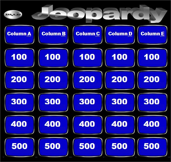 Jeopardy Game Template Ppt Awesome Blank Jeopardy Template 9 Download Documents In Pdf Ppt