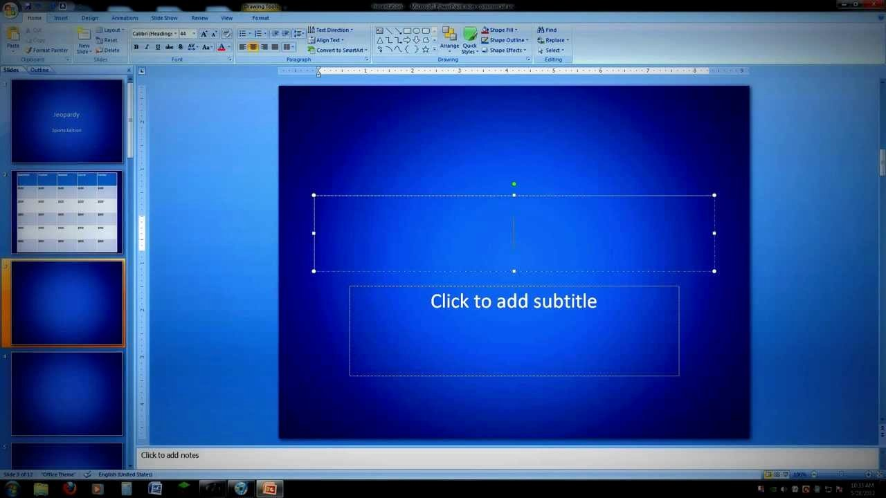 Jeopardy Game Template Ppt Awesome How to Create A Powerpoint Jeopardy Game