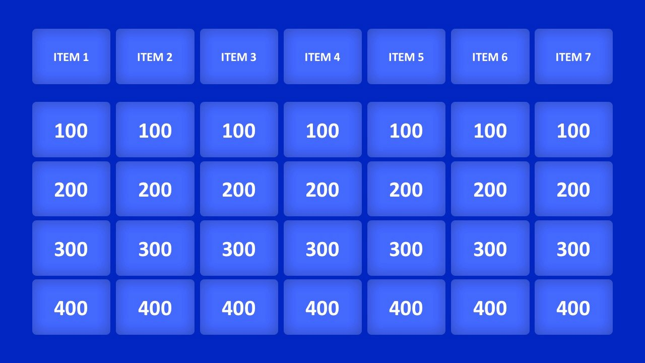 Jeopardy Game Template Ppt Beautiful Jeopardy Game Powerpoint Templates