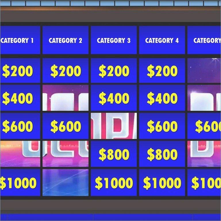 Jeopardy Game Template Ppt Elegant Jeopardy Powerpoint Template – Pontybistrogramercy