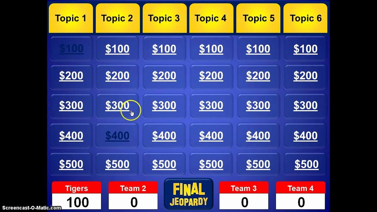 Jeopardy Game Template Ppt Fresh Jeopardy Powerpoint Template