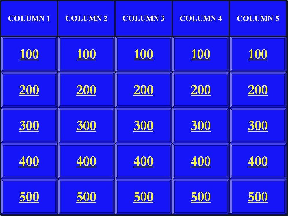 Jeopardy Game Template Ppt New Jeopardy In Powerpoint – Pontybistrogramercy