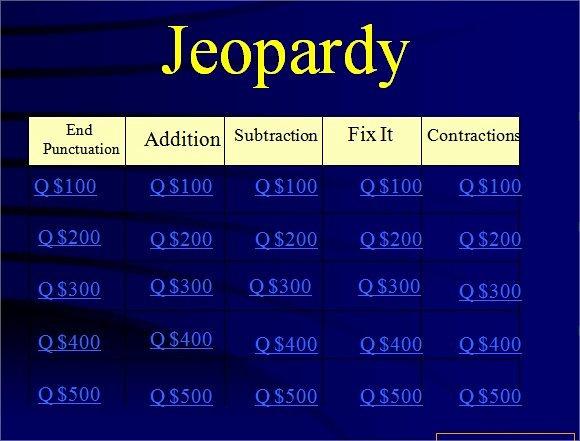 Jeopardy Template with Scorekeeper Unique Jeopardy Powerpoint Template with Score Jeopardy