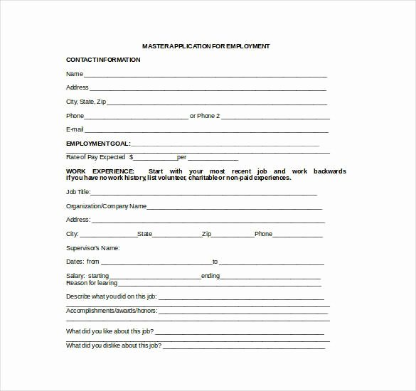 Job Application Template Doc Lovely Employment Application Template Microsoft Word 21