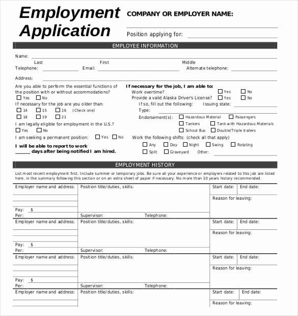 Job Application Template Doc Unique Job Application Template 19 Examples In Pdf Word