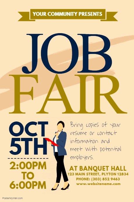 Job Fair Flyer Template Beautiful Job Fair Poster Template
