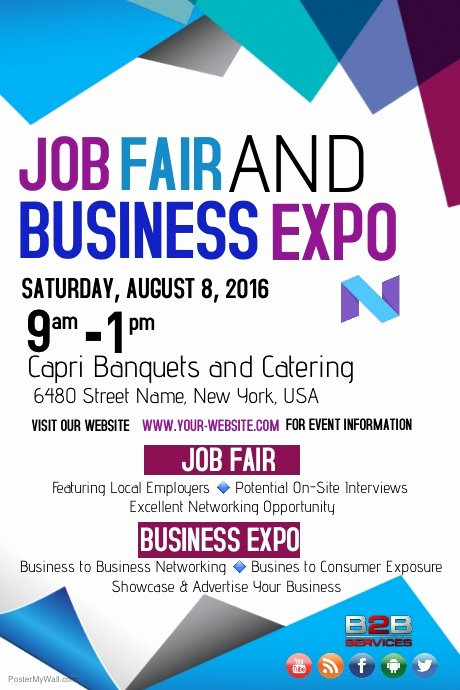 Job Fair Flyer Template Best Of Job Fair and Business Expo Template