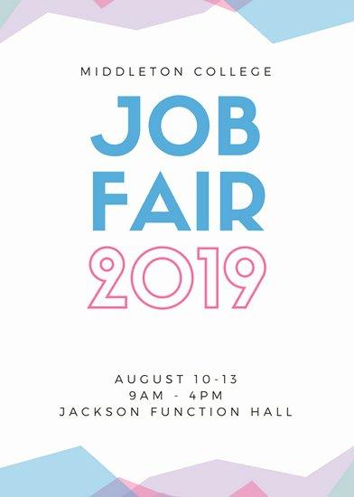 Job Fair Flyer Template Best Of Pastel Abstract Job Fair Flyer Templates by Canva